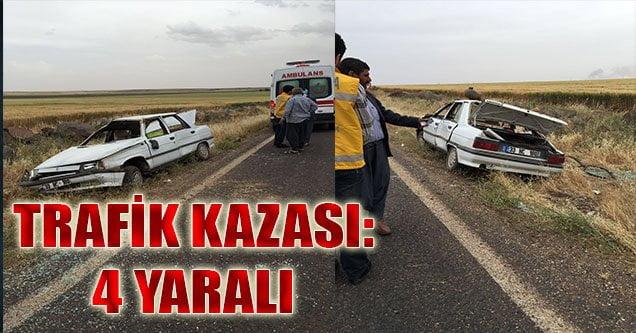 Trafik Kazası: Aynı Aileden 4 Yaralı
