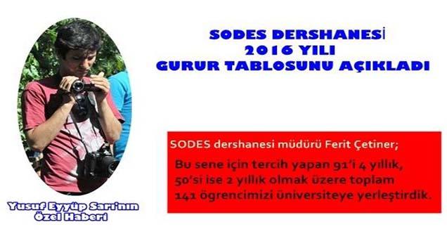 SODES Dershanesi 2016 Yılı Kazananlarını Açıkladı