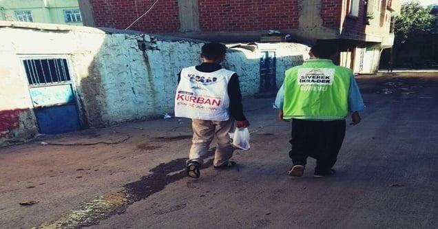 Siverek İkra-Der 100 Aileye Kurban Eti Dağıttı