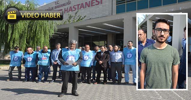 Doktorun darp edilmesi protesto edildi