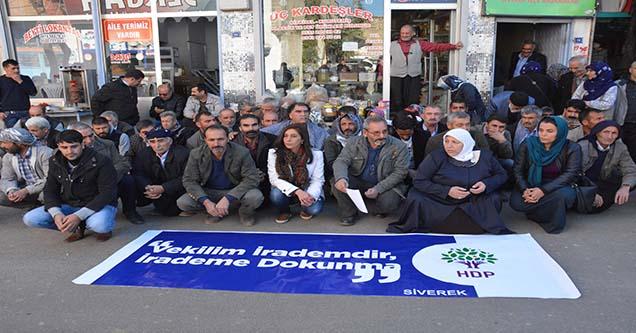 Milletvekillerinin tutuklanması protesto edildi