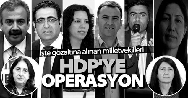 HDP'li 11 Milletvekili Gözaltına Alındı