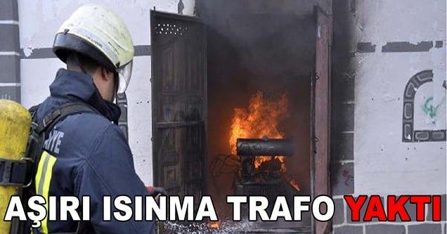 Trafo patlamanın ardından alev aldı!
