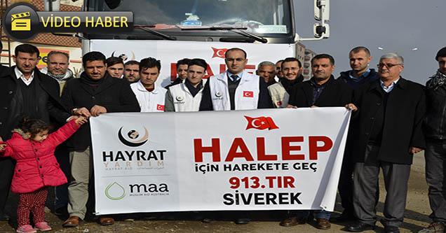 Siverek'ten Halep'e İnsani Yardımlar Sürüyor