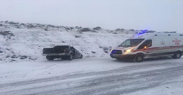 Siverek'te kar kazası: 2 yaralı