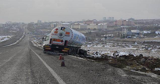 LPG tankeri kaza yaptı