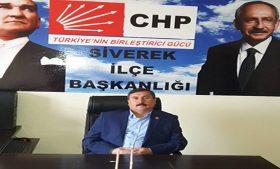 CHP Siverek'ten sağduyu çağrısı