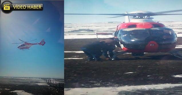 Lösemi hastasının imdadına ambulans helikopter yetişti