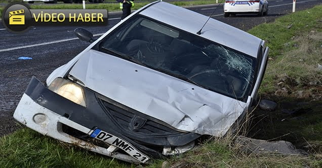 Karşı şeride geçen otomobil minibüse çarptı: 7 yaralı