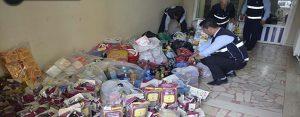 1,5 ton bozuk gıda maddesi imha edildi!