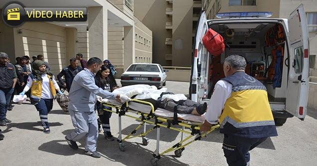 Elektrik akımına kapılan 2 kişi yaralandı