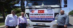 Siverek'ten Suriye'ye bir tır un yardımı