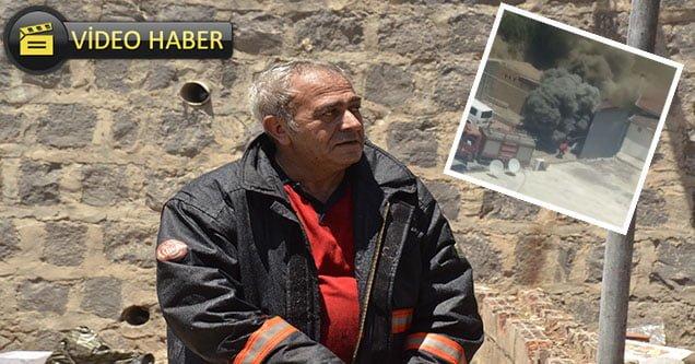 Yangına müdahale eden itfaiye eri ölümden döndü