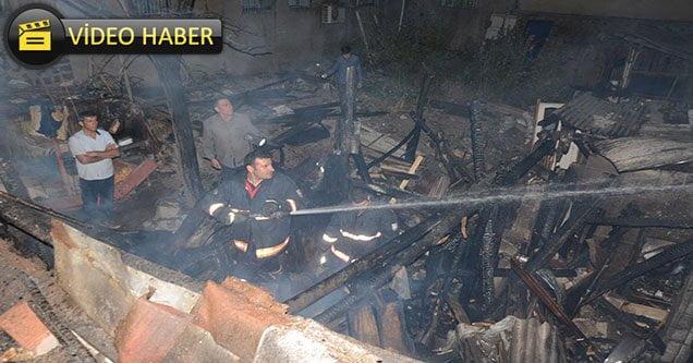 Marangoz atölyesinde yangın çıktı