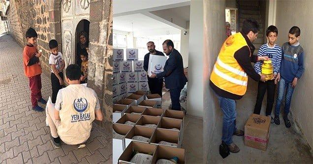 Siverek-Der ihtiyaç sahiplerine gıda yardımı yaptı