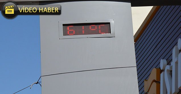 Sıcaklık rekoru Siverek'te kırıldı: 61 derece