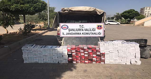 Jandarma ekipleri kaçak sigara ele geçirdi