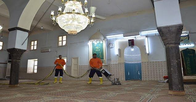 Siverek'te cami ve ibadethaneler temizleniyor