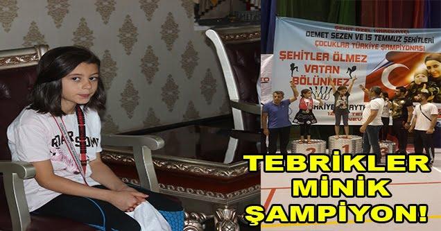 Türkiye şampiyonu Siverek'ten çıktı