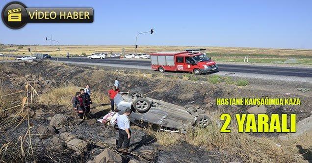 Hastane kavşağında trafik kazası: 2 yaralı
