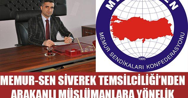 Memur-Sen Siverek'ten Arakan'daki Müslüman katliamına tepki