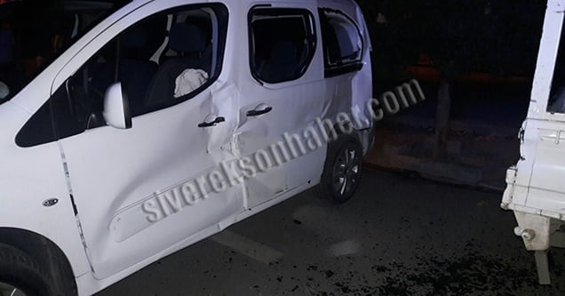 Trafik kazasında 2 kişi hafif yaralandı