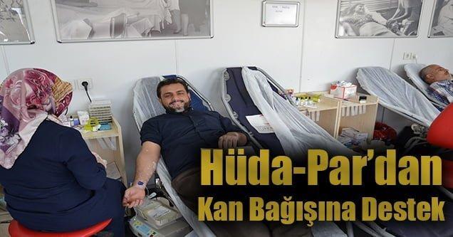 Hüda-Par Gençlik Kollarından kan bağışına destek