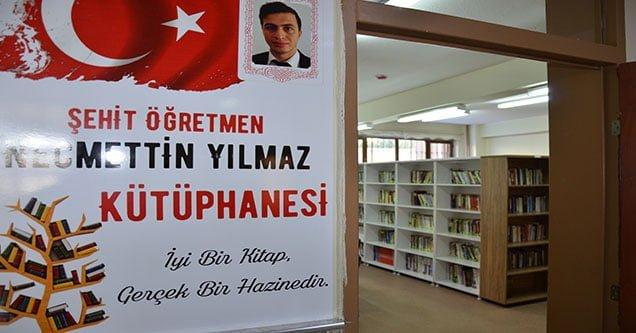 Şehit Öğretmen Necmettin Yılmaz Anısına Kütüphane Kuruldu