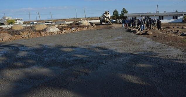 Karakoyun kırsalında beton yol çalışmasına başlandı