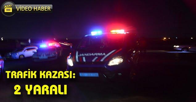 Feribot yolunda trafik kazası: 2 yaralı