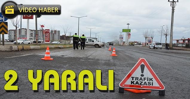 Otogar kavşağında kaza: 2 yaralı