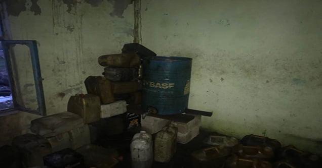 700 litre kaçak akaryakıt ele geçirildi