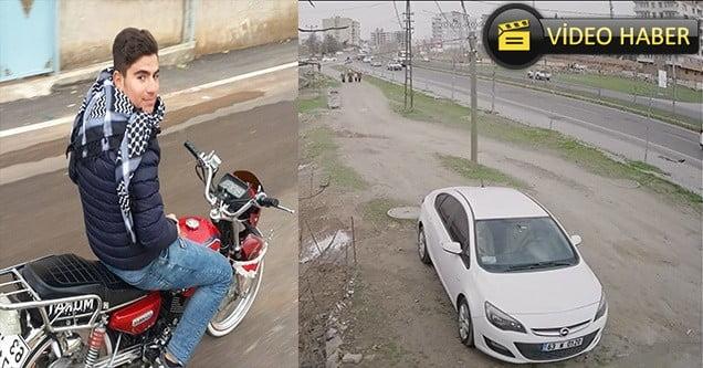 Motosiklet kazası güvenlik kamerasına yansıdı