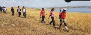 Doğa sporcuları Fırat kıyılarını gezdi
