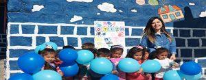 Köy okulu öğrencilerinden 'otizm' mesajı