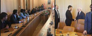Milli Türk Talebe Birliği'nden Meclis Başkanı Kahraman'a ziyaret