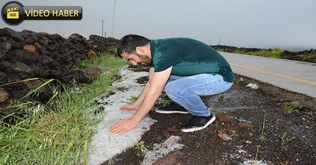 Dolu ve sağanak yağış tarım arazilerini vurdu