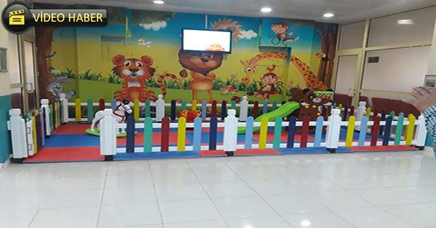 Diş sağlığı merkezine çocuk oyun park alanı yapıldı