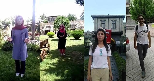 Gençler, üniversite talebini video çekerek dile getirdi
