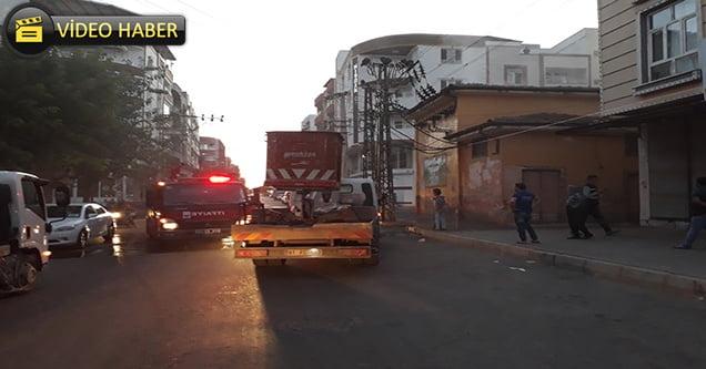 Alev alan trafo itfaiye ekiplerince söndürüldü