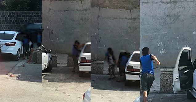 Hırsızlık yaptıkları iddia edilen çocuklar kamerada
