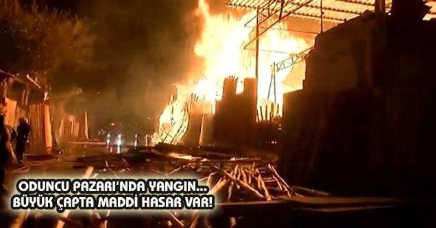 Oduncu Pazarı'nda yangın… 2 milyonluk hasar var!