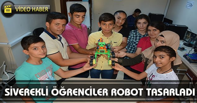 Öğrenciler robot tasarladı