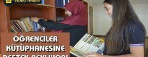Öğrenciler kütüphaneleri için destek bekliyor