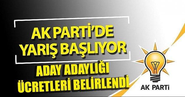 AK Parti'de aday adaylığı başvuru ücreti belirlendi