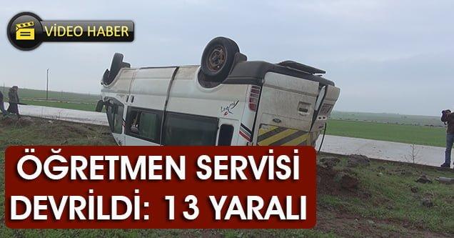 Öğretmen servisi kaza yaptı: 13 yaralı