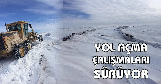 Kırsalda karla mücadele devam ediyor