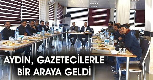 AK Parti Adayı Şeyhmus Aydın, gazetecilerle bir araya geldi