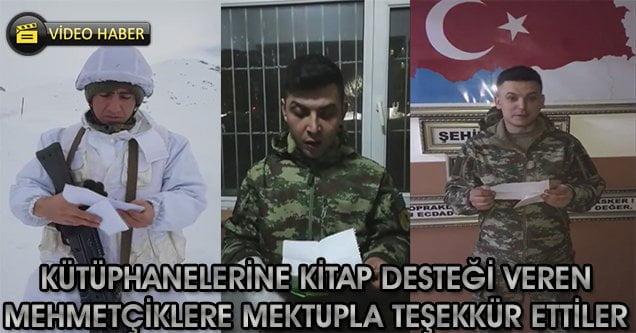 Öğrencilerden Mehmetçik'e teşekkür mektubu