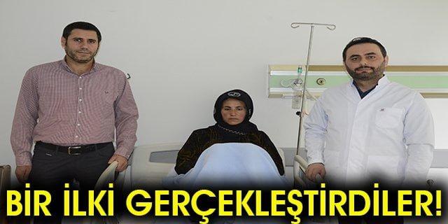Siverek Devlet Hastanesi doktorlarından bir ilk!